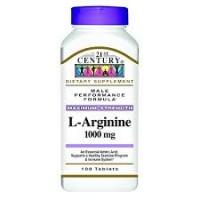 L-аргинин, максимальная мощь,21st Century, 1000 мг, 100 таблеток