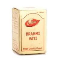 Брахми вати с золотом, Даубр, 10 таб, Brahmi Vati Gold, Dabur, 10 tab