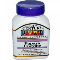 Папайя Энзимы (Papaya Enzyme), 100 жевательных таблеток