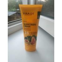 Солнцезащитный крем Vaadi с экстрактами киви и авокадо SPF 25, 110г